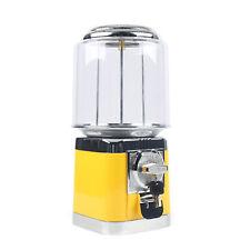 Yellow Chrome Gumball Candy Nut Bulk Vending Machine Dispensers With Lockkey