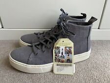 Brand New Grey Toms High Tops Trainers Size 6.5 Uk