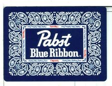"Single Playing Card, ""Pabst Blue Ribbon"" Beer, Wide Blue"