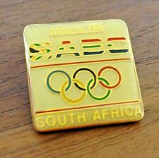 Vtg South African Broadcasting Corporation SABC Olympic Media Pin 1996 Atlanta