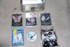 1998 Nintendo ~ Pokemon ~ Collectible Tin W/Lock Cards Mini Puzzle & Pin W/Bonus