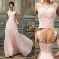 Ladies Grace Evening Cocktail Party Wedding Bridesmaid Long Prom Dress Pageant