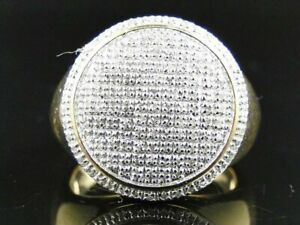 Dome Engagement Men's Pave Set Ring 14K Yellow Gold Over 2.65 Ct VVS1 Diamond