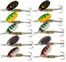 10pcs Spinners Spoon Fishing Lure Metal Spinnerbaits Fishing Tackle 5 Colors