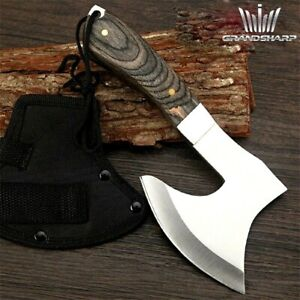 Hatchet Axe Felling Tomahawk Tactical Firewood Chopper Carbon Steel Wood Handle
