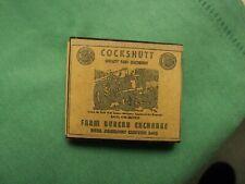 1940's Box of Wood Matches Cockshutt Quality Farm Machinery Jackson Center,OH