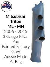 3 Gauge Pillar Pod Painted Factoy to suit Mitsubishi Triton ML MN 06- 15 Airbag