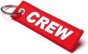 Schlüsselanhänger • CREW in ROT • Deutscher Händler • ähnl. Remove Before Flight