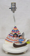 Vintage Wood Nursery Lamp Native Ethnic Americans TeePee Canoe Nursery Originals