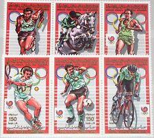 LIBYEN LIBYA 1988 1799-04 A 1342-47 Olympics Seoul Soccer Tennis Cycling MNH