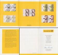 Folding Card welfare 2001 Int. Film Actor each 4er Block (MiNr. 2218-22)