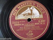 "78rpm 12"" J M SANROMA tchaikowsky & grieg piano concertos , condensed c.3297"