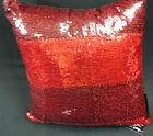 DESIGNER CUSHION BLACK RED SILVER GOLD CIRCLES SEQUINS DOTS 40 CM 50 60 CM NEW
