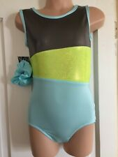 NEW GIRLS LEOTARD SIZE 26 - LIGHT BLUE MULTI
