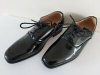 Boys WEDDING patent FORMAL SHOES black shiny Size 11 12 13 1 and 3 FREE POST