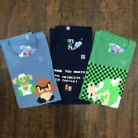 NWT Uniqlo Men`s Short Sleeve T-Shirt UT Graphic Tee S M L XL XXL Super Mario