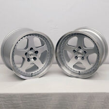 "17"" Silver Mustang Saleen SC style Wheels Deep Dish 17x9 17x10 5x114.3 94-04"
