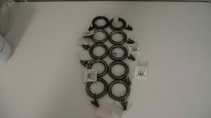 Pottery Barn PB Standard Curtain Clip Rings Set 10 Small Pewter Finish