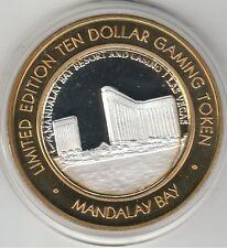 2006 Mandalay Bay LV Towers Casino .999 Fine Silver Strike $10 Casino Token