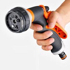 Garden Hose Pipe Spray Gun Head Soft Grip Handle Multi Pattern Water Sprayer UK#