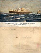 """Motonave """"SATURNIA"""", cosulich line, Trieste, nuova"""