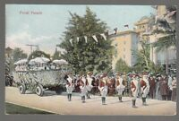 [49277] OLD POSTCARD TOURNAMENT OF ROSES FLORAL PARADE IN PASADENA, CALIFORNIA