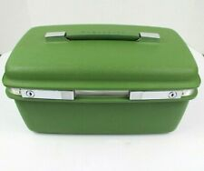 Vintage Mid Century Green Samsonite Saturn Train Cosmetic Makeup Hard Case