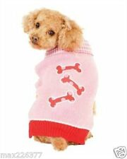 New Fashion Pet Pink Bones Dog Sweater pink Small