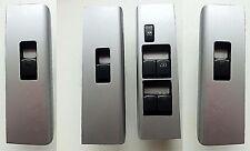 NISSAN NAVARA D40 / R51 (2004-2014) 4 DOOR WINDOW SWITCH SILVER TRIM SET