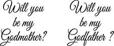 God Mother - God Father - Wine Glass - Pint Glass -  Decals - Stickers - Wedding