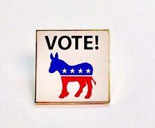 VOTE Democrat Lapel Pin Political Election Campaign American Flag union