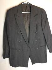 Ermenegildo Zegna Mens 40R Suit Super 100s Three Button Grey Blazer