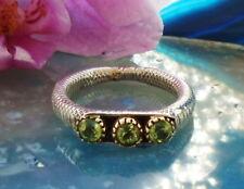 Ring Zweifarbig Sterling Silber 925 Stein Peridot grün Stein des August