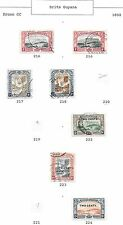 British Guyana stamps 1898 Collection of 7 CLASSIC stamps  HIGH VALUE!