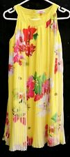 TED BAKER Girls Stunning Yellow Strappy Sleeveless Tropical Flower Dress Age 14