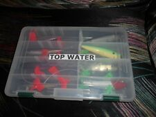 8 Classic Vintage Topwater Floating Lures With Cabela's Storage Box