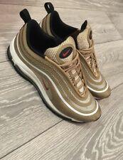Men'S Nike Air Max 97 Scarpe da ginnastica oro Taglia 8 UK