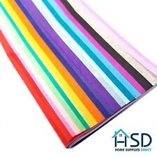 HSD Tissue Paper Multi Colour Pack Large Sheets 20 Assorted Colours 50cm x 66cm