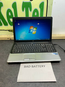 "HP G61 15.6""  WIDESCREEN LAPTOP WINDOWS 7 WEB CAM WORKING, BAD BATTERY BLACK"