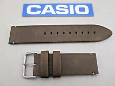 Genuine Casio Pro Trek PRG-600YL brown leather watch band 24mm lug 4.5mm thick
