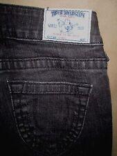 True Religion Size 24 Skinny Dark Black Stretch Denim Low Rise Womens Jeans