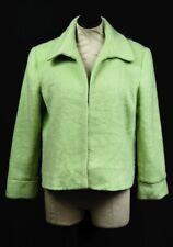 Women's Adolfo Studio Light Green 22% Mohair Open Front Lined Jacket Sz 14P