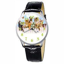 Cat Kitten Group Stainless Wristwatch Wrist Watch