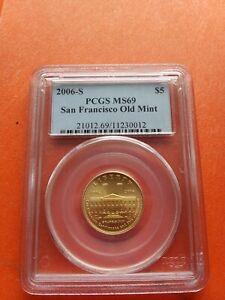 2006-S G$5 San Francisco Old Mint PCGS MS69