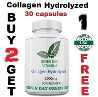Collagen Hydrolyzed 1000mg Skin Nails and Hair Health Made USA Free shipping