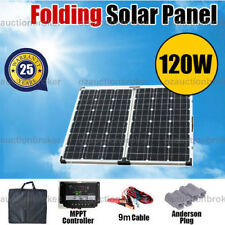 12V 120W Folding Solar Panel Kit Power Battery Caravan Boat Camping