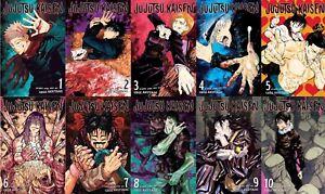 Jujutsu Kaisen Vol. 1-10 English Paperback Manga by Gege Akutami Brand New