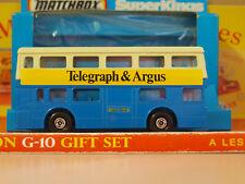 Vintage Matchbox Lesney SUPER KINGS K-15 The Londoner Telegraph and Argus Bus #1