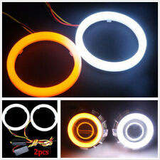 Latest 60MM Car COB LED Angel Eyes Lights Turn Signal Halo Ring Kit Lamp Driving