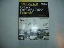 1998 Mitchell GM General Motors Collision Estimating Manual Guide Corvette Camar